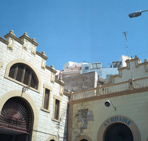 Melilla is a port town eight hours from malaga, Spain